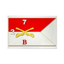 Guidon - B Troop 2nd Squadron Rectangle Magnets