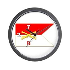 Guidon - B Troop - 2nd Squadron - 7th C Wall Clock