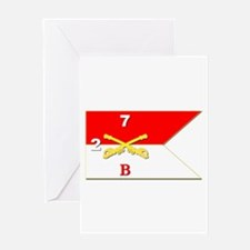 Guidon - B Troop 2nd Squadron 7t Greeting Cards