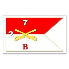 Guidon - B Troop - 2nd Squadro Sticker (rectangle)