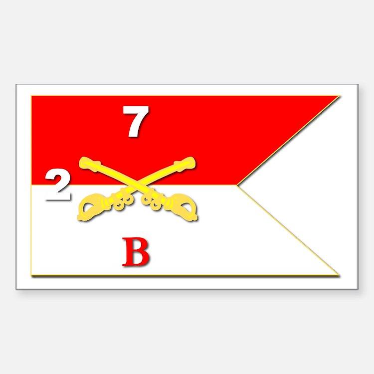 Guidon - B Troop - 2nd Squadro Sticker (rectangle)
