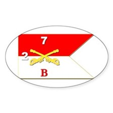 Guidon - B Troop - 2nd Squadron - 7 Sticker (oval)