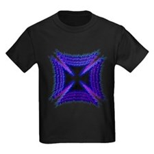 Blue Flaming Biker Cross T