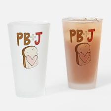 PB and J Sandwich Heart Drinking Glass
