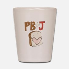 PB and J Sandwich Heart Shot Glass