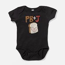 PB and J Sandwich Heart Baby Bodysuit