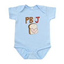 PB and J Sandwich Heart Body Suit