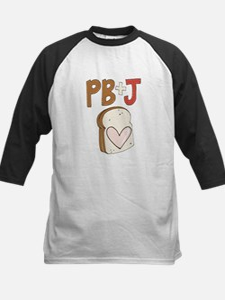 PB and J Sandwich Heart Baseball Jersey