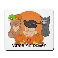 Personalized Halloween Cats Mousepad