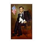Lincoln & Tri Cavalier Sticker (Rectangle)