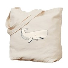 White Sperm Whale Tote Bag