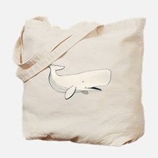 White Sperm Whale Tote Bag