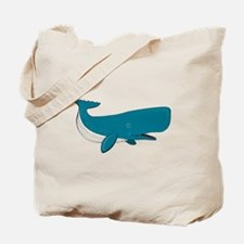 Blue Sperm Whale Tote Bag