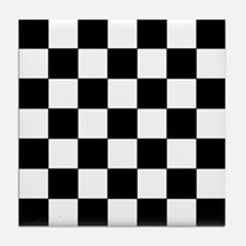 Checkered Pattern Tile Coaster