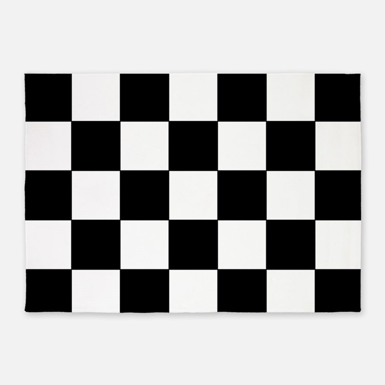 Black and white checkered rugs black and white checkered for Checkered carpet black and white