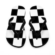 Checkered Pattern Flip Flops