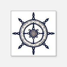 Blue Ship Wheel Sticker