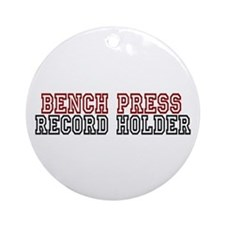 Bench Press Ornament (Round)