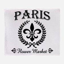 PARIS FLOWER MARKET Throw Blanket