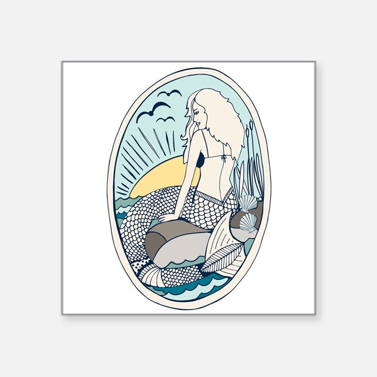 Mermaid Portrait Sticker