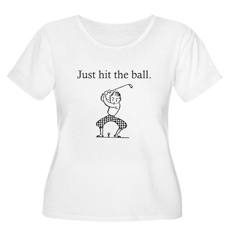 "Golfer's ""Just Hit the Ball"" Women's Plus Size Sco"