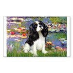 Lilies and Tri Cavalier Rectangle Sticker