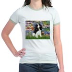 Lilies and Tri Cavalier Jr. Ringer T-Shirt