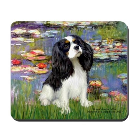 Lilies and Tri Cavalier Mousepad