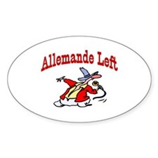 Square Dance Oval Decal