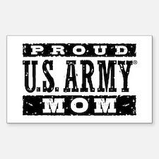 Proud U.S. Army Mom Sticker (Rectangle)
