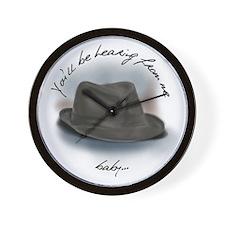 Hat for Leonard 4 Wall Clock