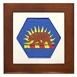California Military Reserve Framed Tile
