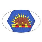 California Military Reserve Oval Sticker