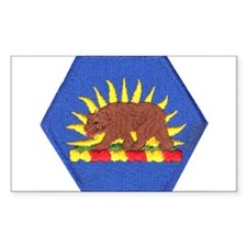 California Military Reserve Rectangle Decal