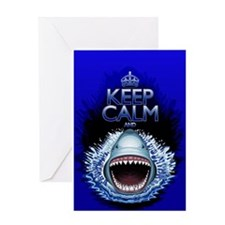 Keep Calm and Shark Jaws Attack! Greeting Cards