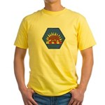 California Military Reserve Yellow T-Shirt