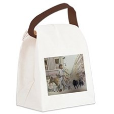 Cute Chico Canvas Lunch Bag