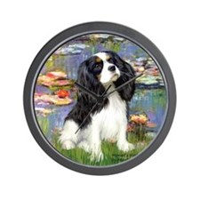 Lilies and Tri Cavalier Wall Clock