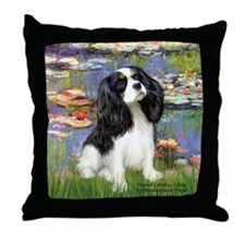 Lilies and Tri Cavalier Throw Pillow