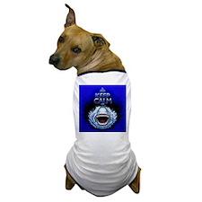 Keep Calm and Shark Jaws Attack! Dog T-Shirt