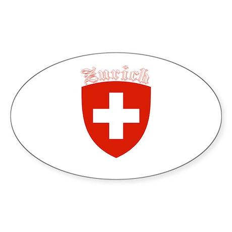 Zurich, Switzerland Oval Sticker