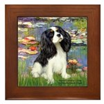 Lilies and Tri Cavalier Framed Tile