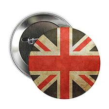 """Vintage Union Jack 2.25"""" Button"""