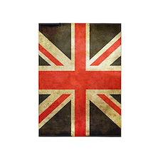 Vintage Union Jack 5'x7'Area Rug