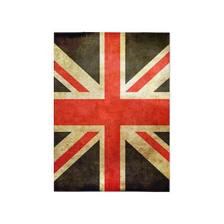 Vintage Union Jack 5u0027x7u0027Area Rug