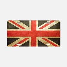 Vintage Union Jack Aluminum License Plate