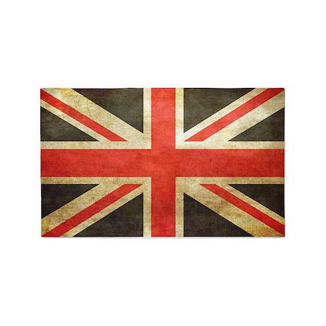 Vintage Union Jack 3u0027x5u0027 Area Rug