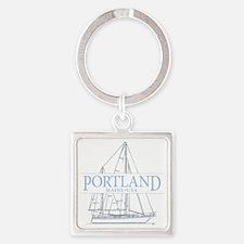Portland Maine - Square Keychain