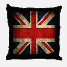 Grunge Uk Flag Throw Pillow