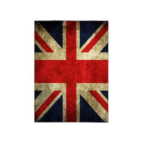 Grunge Uk Flag 5u0027x7u0027Area Rug